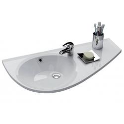 RAVAK Umývadlo Avocado biele s otvormi, XJ1L1100000 (XJ1P1100000)