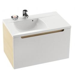 RAVAK Umývadlo Classic 800 biele s otvormi, L/P variant, XJDL1180000 (XJDP1180000)
