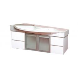 EDEN  závesná skrinka s keramickým umývadlom  LYNX NEW kod LYN 54 xx yy