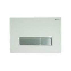 GEBERIT tlačidlo SIGMA40 Biele sklo / Brúsený hliník, kód 115.600.SI.1