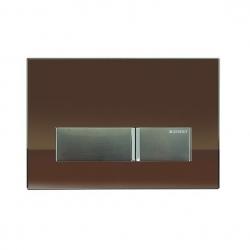 GEBERIT tlačidlo SIGMA40 Hnedé sklo / Brúsený hliník, kód 115.600.SQ.1