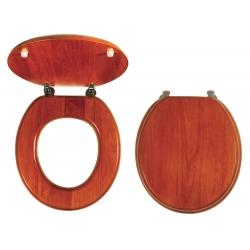 NOVASERVIS WC sedadlo Masívne drevo kod WC/DUB LYRA