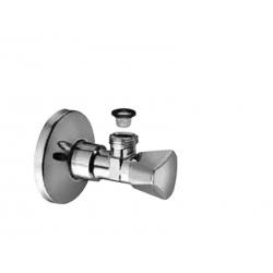 """Schell rohový ventil SANLAND 1/2"""" - 3/8"""" so sitkom kod 970580000, chrom."""