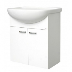 EDEN závesná skrinka s keramickým umývadlom 55 cm PLUS X kod PX 03 xx L1