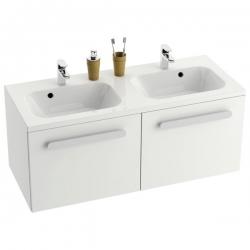 RAVAK skrinka pod dvoj-umývadlo s dvoma zásuvkami SD Chrome 1200 biela/biela kód X000000536