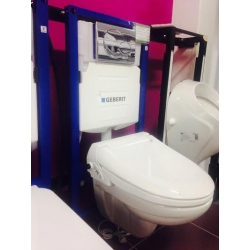 Geberit Duofix, závesné WC + bidetové sedátko Geberit Aquaclean 4000