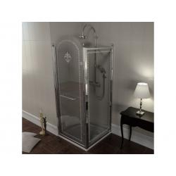 Antique 90x100cm,chróm,obdĺžniková sprchová zástena,P varianta