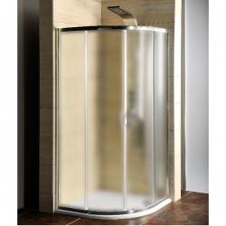 Aqualine - Sprchový kút 90x90×190cm matné sklo+vanička liaty mramor