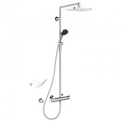 HANSA Fit termostatická sprchová súprava, sprchová tyč 600 mm, horná sprcha 257 x 197 mm, chróm