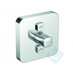 KLUDI Push termostatická sprchová batéria pod omietku pre 2 spotrebiče, chróm