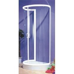 Sanotechnik sprchový kút na rovnú stenu s vaničkou, oblúk, 100x85cm