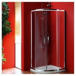 Gelco Sigma - Štvrťkruhová zástena 900 x 900 mm, 2 dvere, číre sklo, chróm