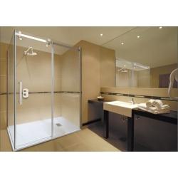 Aquatek Tekno R63 sprchovací kút 160x90cm , chróm, sklo číre,