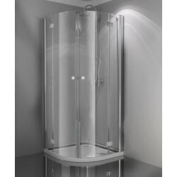 Sanotechnik Smartflex štvorcový sprchový kút,  otváravé dvere, číre sklo