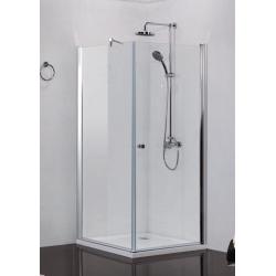 Sanotechnik Elegance štvorcový sprchový kút,  otváravé dvere + pevná časť, číre sklo