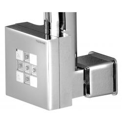 KTX vykurovacia tyč s termostatom s krytom pre kábel, 300 W, chróm