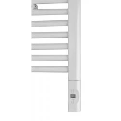 Elektrická vykurovacia tyč s termostatom a diaľkovým ovládaním,600W,D-tvar,biela