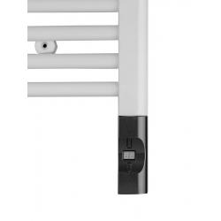 Elektrická vykurovacia tyč s termostatom a diaľkovým ovládaním,600W,D-tvar, antr