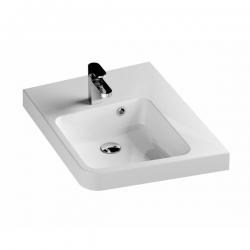 RAVAK Umývadlo BeHappy biele s otvormi, L/P variant, XJAL1100000 (XJAP1100000)