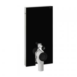 GEBERIT MONOLITH pre stojace WC - obj. č. 131.003.SJ.1, čierne sklo/brúsený hliník, prívod vody z boku